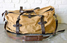 Classic C.C. Filson Tan Canvas & Leather Cross Body Large Duffle Travel Bag