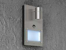 Außenleuchte / Hausnummernleuchte Edelstahl Bewegungssensor GU10 & 1x LED, Haus