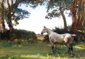 Alfred Munnings Horse Fine Spell Landscape Painting Fine Art Canvas Print A4