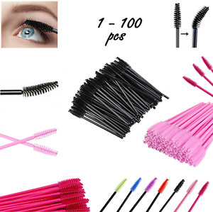 1 - 100PCS Mascara Wands Lash Brushes Disposable Eyelash Extension Applicator