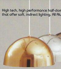 "EJS Ceiling HEMISPHERE 1-Light FIXTURE Polished Brass GOLD 12"" 150W NEW Aluminum"