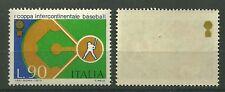 ITALIA VARIETA' LIRE 90  CON DECALCO COPPA IN ORO  SUL RETRO 1973 COPPA BASEBALL