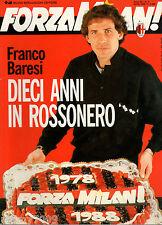 FORZA MILAN!=N°4 1988=FRANCO BARESI TRAPATTONI DONADONI AVELLINO PESCARA TORINO