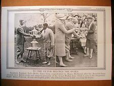 1930 ICN Poster 12.5x19 Bobby Jones Roger Wethered Golf Walker Cup Champs Collet