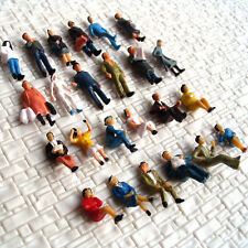 24 pcs HO scale Model People Painted Figure with half Seated Passenger scenery