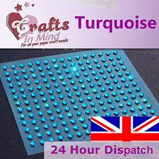 195 x 3mm Turquoise Rhinestone Diamante Gems | Round