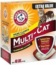 New listing Arm & Hammer Multi-Cat Clumping Cat Litter Scented Pet Supplies Indoor Home 40lb