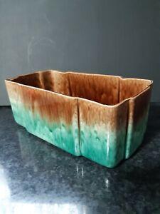 Vintage Pates Sydney Australian Pottery Trough Earthy mottled Drizzle glazed