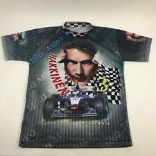 Vtg 90s MIKA HAKKINEN Jersey Formula 1 McClaren MP4-16 Racing Shirt All Over M