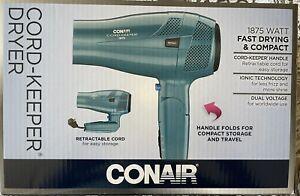 Conair 289NX 1875 Watt Ionic Conditioning Folding Handle Hair Dryer - Green