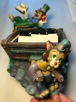 Rolodex:Rare Disney Pinocchio Worthington Fox Gideon Cat Used #22097