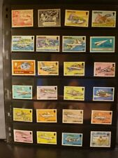 Gibraltar Aircraft & Aviation Stamps Lot of 24 - MNH - See Details for List