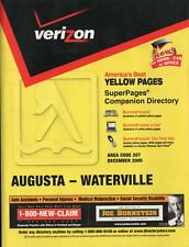 Telephone Directory Book Verizon Yellow Pages - Augusta-Waterville Maine 2005