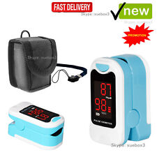 LED Blood Oxygen Finger Pulse Oximeter Oxymeter SPO2 Heart Rate Monitor+Pouch,CE