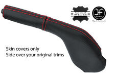 RED STITCH CARBON VINYL HANDBRAKE GAITER+HANDLE COVER FOR MAZDA RX7 FC3 86-91