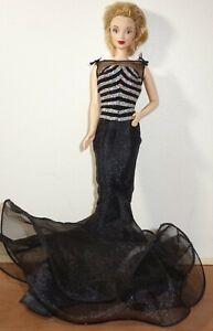 40th Anniversary Barbie Doll Collector 1999 Mattel Black Silver Dress