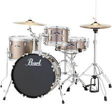Pearl Roadshow 4-piece Complete Drum Set with Cymbals - Bronze Metallic
