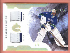 11/12 Artifacts Horizontal Gold Spectrum #1 Roberto Luongo Dual 2 Clr Patch #4/9