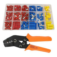 280Pcs Cable Crimping Terminals Connectors + Ratchet Crimp Plier Tool Set Kit