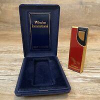 RARE Vintage Winston International Hadson Starfire Lighter Japan Made New w Case