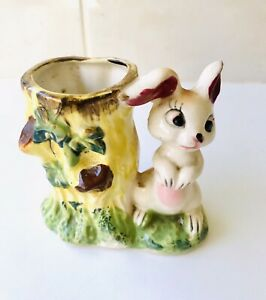 Vintage Rabbit Planter Vase - 1950's