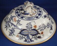 Antique 19thC Meissen Porcelain Blue Onion Warming Dome Porzellan Zwiebelmuster