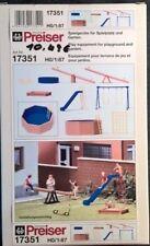 H0 1:87 Preiser 17351 Tolle Spielgeräte für Spielplatz, Garten, Kindergarten OVP