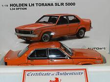 Biante Autoart 1.18 Holden LH TORANA SLR 5000 L34 Option 1974 Saffron 4dr #73479