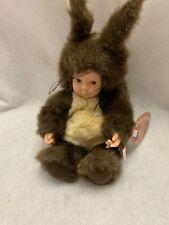 """Baby Squirrel Doll by Anne Geddes 9"""" New w/tag 1997 Nooo"""
