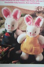 Toy Baby Rabbits Knitting Pattern