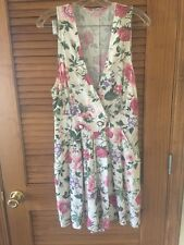 Vintage Double Breast Button Romper Flowers Summer Short Sexy