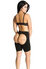 Thigh Butt Lifter Trainer Booty bum boost Panty Long boy shorts Black 69-003