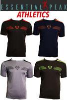 Essential Peak Men's T-Shirt Gym Logo Sports Wear 100% Polyester Short Sleeve