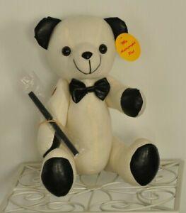NEW Autograph / Signature Bear (Black) - ELKA Australia Teddy Bear 36cm