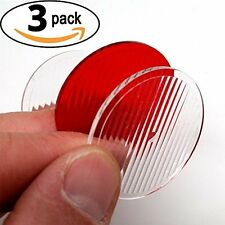 Diffuser Lens for 200 Lumen Rechargeable Bike Lights - Pack of 3 (2 Clear 1 Red)