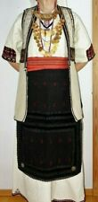 Macedonian ethnic costume - with jewellery, antique vest, headscarf, apron etc.