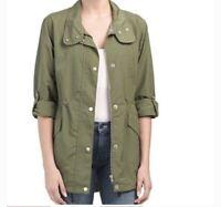 Sanctuary NWOT Olive Green Anorak Utility Jacket Women's Cinched Waist