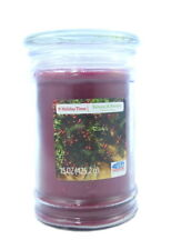 large pillar candle 15oz( 425.2g) candle balsam & berries holiday time