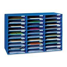 """Pacon Mail Box 30 Slots 12-1/2""""x10""""x1-3/4"""" Blue 001318"""