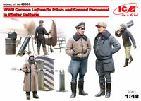 ICM 1:48 scale model kit - WWII Luftwaffe Pilotd & Ground Personnel  ICM48086