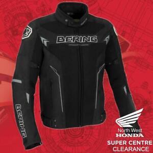 Bering Mistral Mens Vented Textile Motorcycle Jacket Black White Grey 3XL