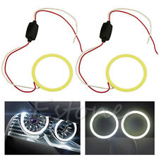 1pc bianco COB 60mm auto Angel Eyes faro Halo anello decorativo Luce 66 Chips