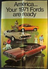 1971 Ford Brochure Mach 1 Mustang LTD Galaxie Torino Pinto Thunderbird Maverick