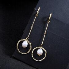 Boucles d/'Oreilles Clous Argenté Gros Demi Perle Blanc Nacré Retro XX34