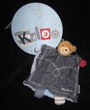 Doudou Marionnette Ours Ourson Trésor bleu Kaloo blue Denim 26 cm K960066