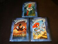 Superman The Movie 1,2,3 I,II,III DVD LOT/SET Christopher Reeve Superhero