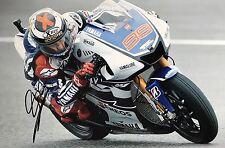 Jorge Lorenzo firmato a mano Yamaha 18x12 foto MotoGP.