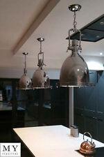 Clement Chrome Industrial Retro Pendant Kitchen Hallway Light 36cm My-Furniture
