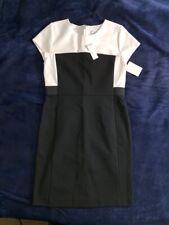 New York & Company Dress Stretch White And Black - Medium