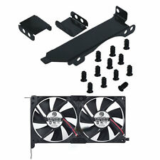 Dual Fan Mount Rack PCI Slot Bracket for Video Card DIY